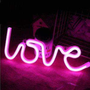 Neon Pink Love Sign Led Room Decoration Light